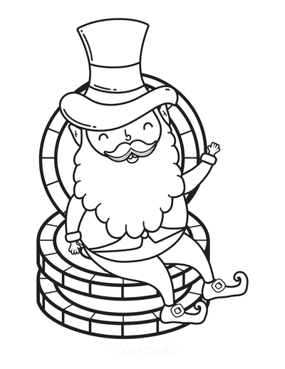 St Patricks Day Coloring Pages Leprechaun Gold Coins