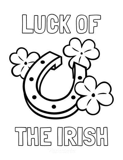 St Patricks Day Coloring Pages Luck of the Irish