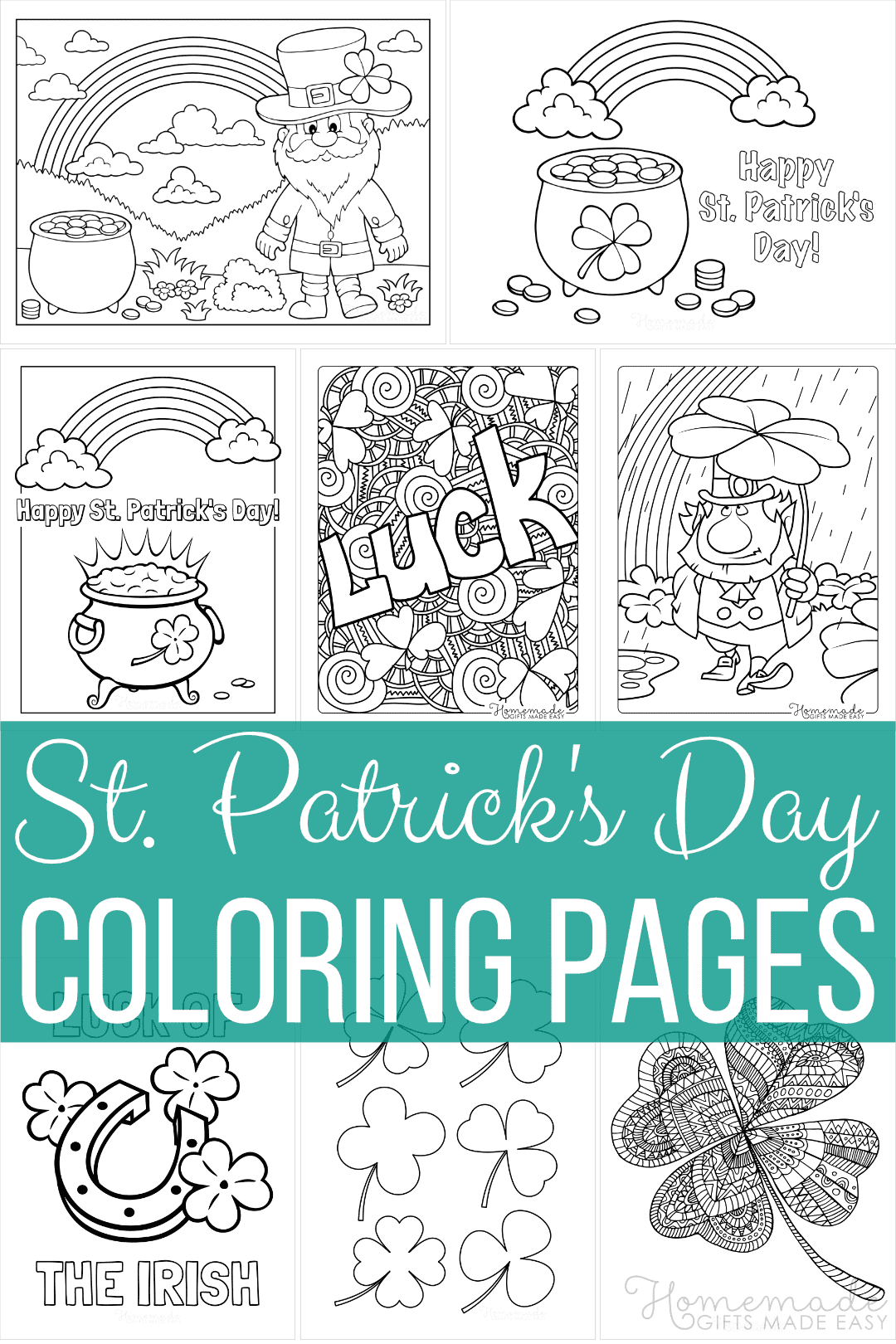 free st patrick's day coloring pages