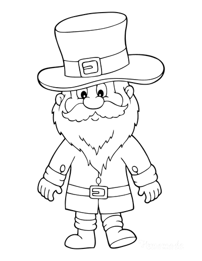 St Patricks Day Coloring Pages Old Man Leprechaun