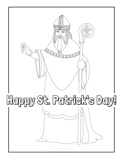 St Patricks Day Coloring Pages Saint Patrick Religious