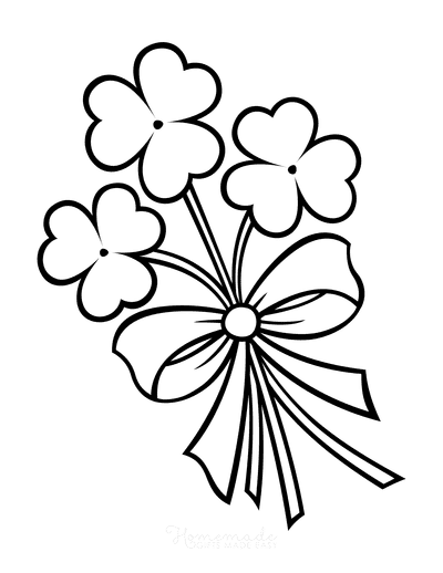 St Patricks Day Coloring Pages Shamrock Bouquet