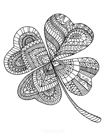 St Patricks Day Coloring Pages Shamrock for Adults to Color