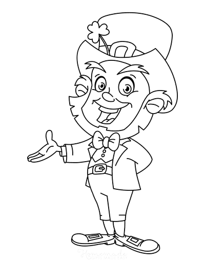 St Patricks Day Coloring Pages Smiling Leprechaun