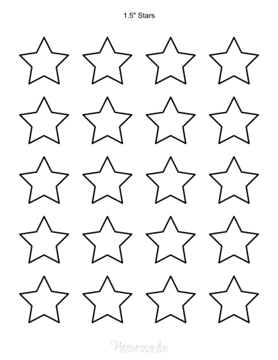 Star Template 5pointed 1p5inch