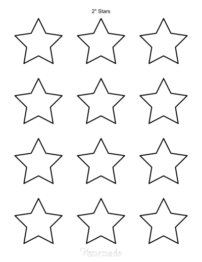 Star Template 5pointed 2inch