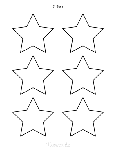 Star Template 5pointed 3inch