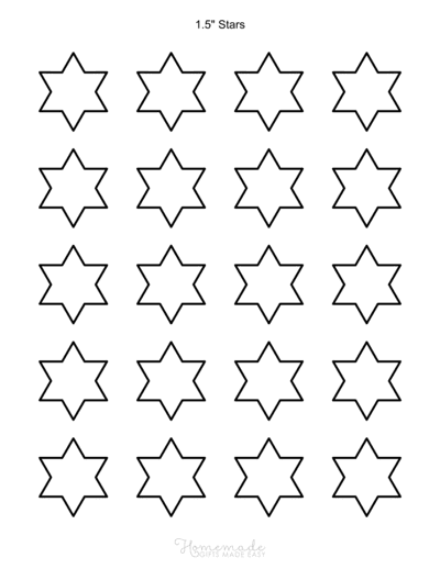 Star Template 6pointed 1p5inch