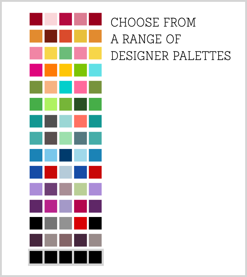 40th birthday poster color palettes