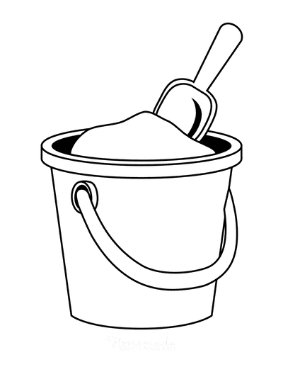 Summer Coloring Pages Bucket Spade