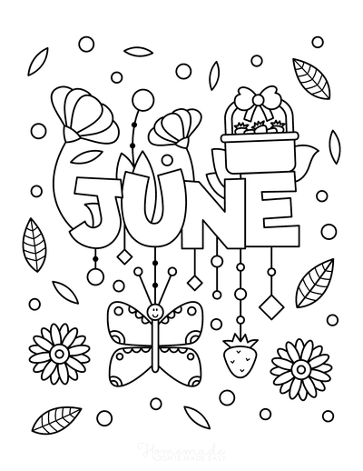 Summer Coloring Pages June for Kids