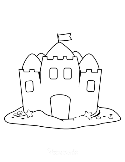 Summer Coloring Pages Sandcastle Kids