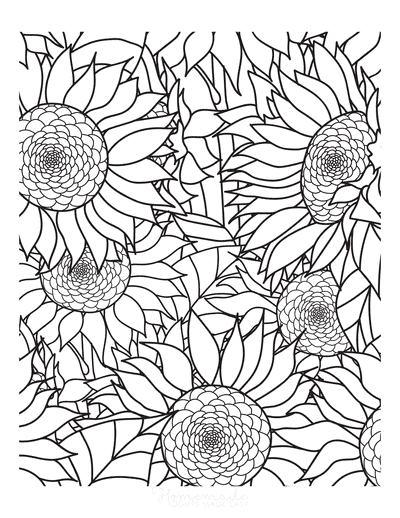 Summer Coloring Pages Sunflowers Doodle to Color