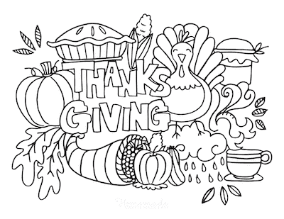 Thanksgiving Coloring Pages Abundant Harvest