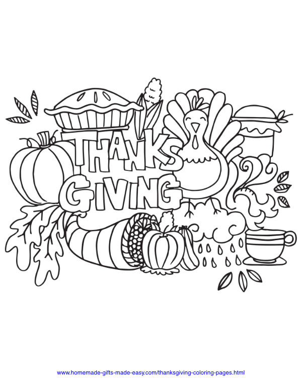 30 Thanksgiving Coloring Pages Free Printables