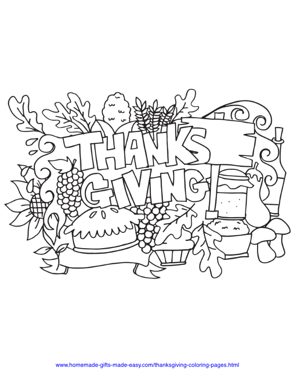 thanksgiving coloring pages - Abundance