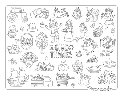 Thanksgiving Coloring Pages Fall Thanksgiving Food Kids