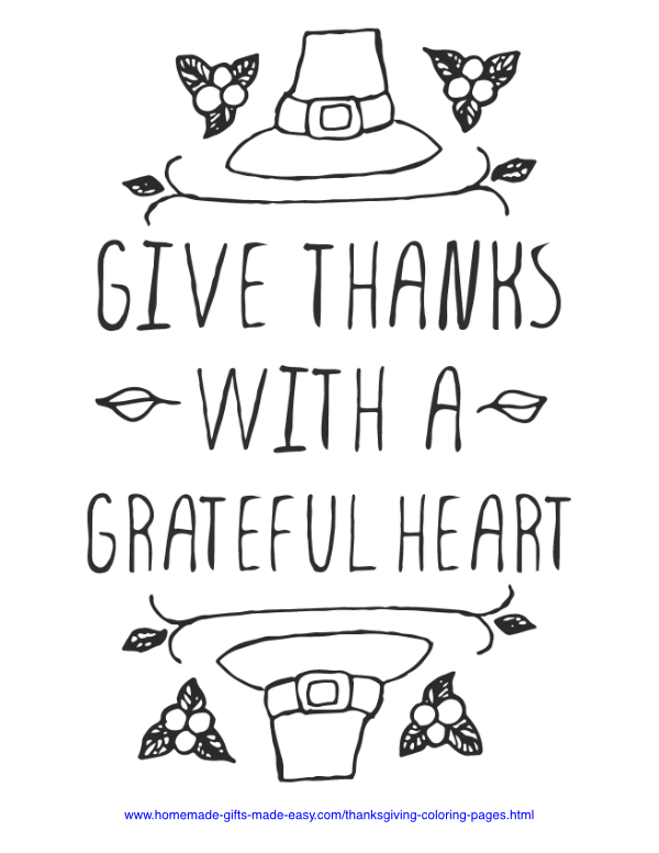 thanksgiving coloring pages - Grateful heart
