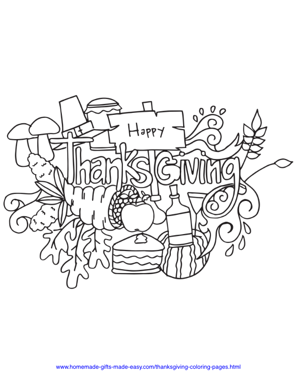 thanksgiving coloring pages - Happy thanksgiving