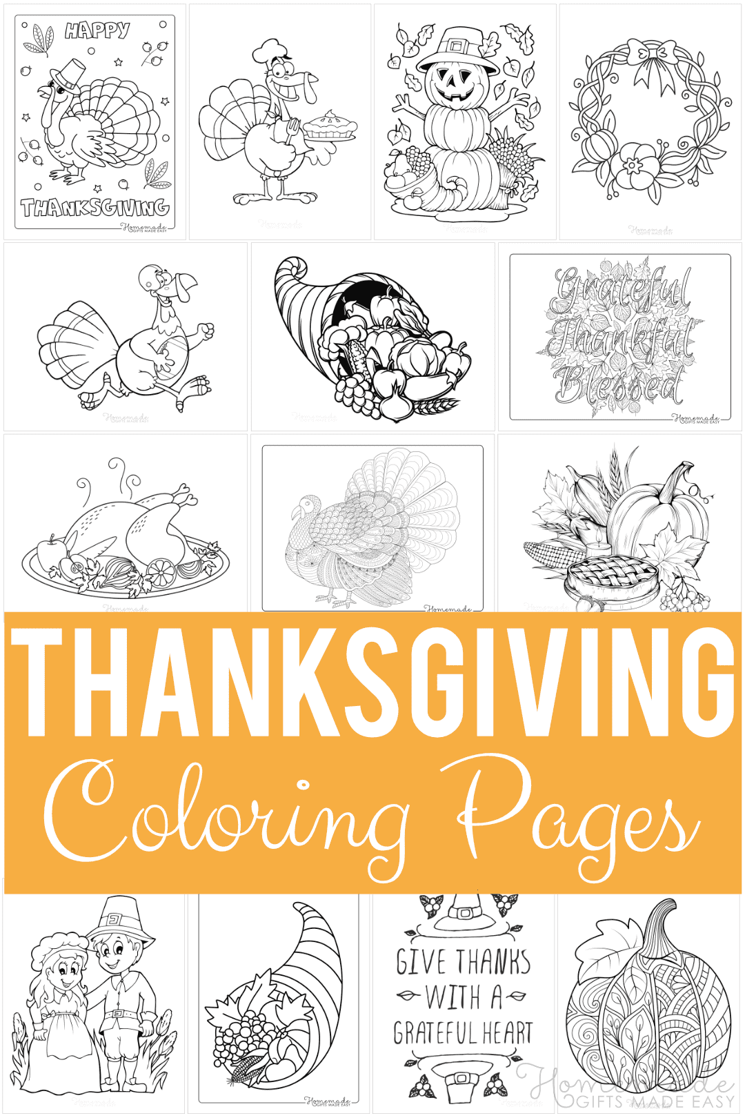70 Thanksgiving Coloring Pages For Kids Adults Free Printables
