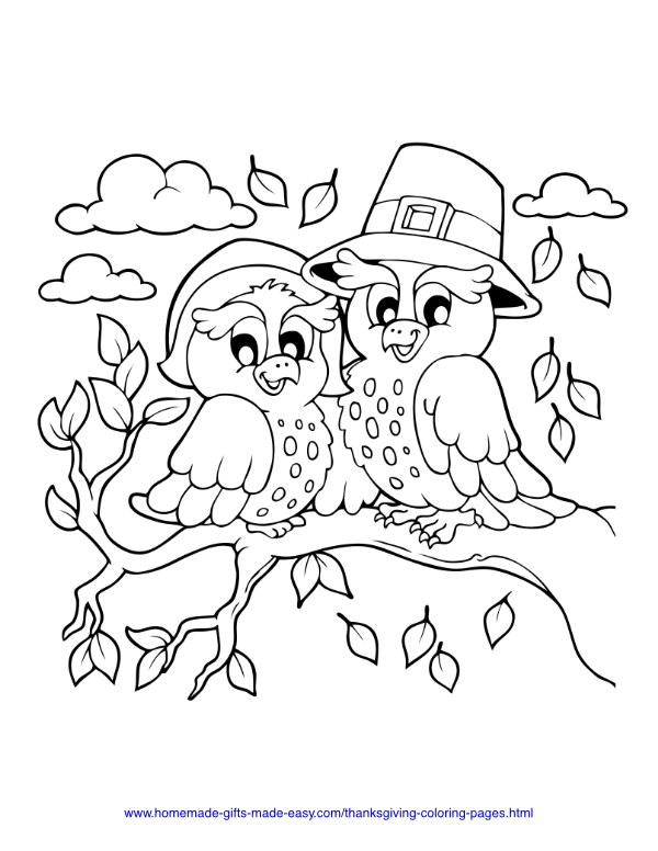 thanksgiving coloring pages - Own pilgrim hat