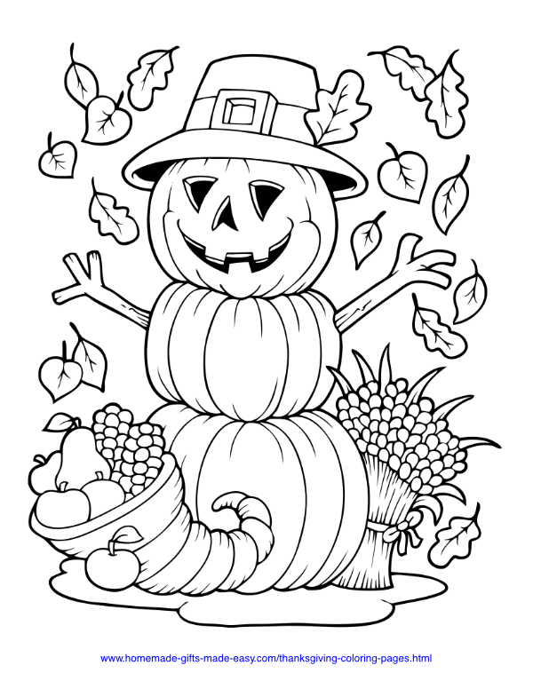 Thanksgiving Coloring Book for Kids Ages 2-5: A Collection of Fun ... | 776x600