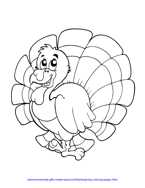 thanksgiving coloring pages - Turkey