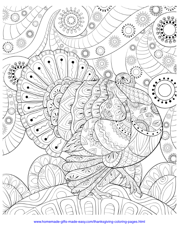 Thanksgiving Coloring Pages, Sheets and Pictures | 776x600