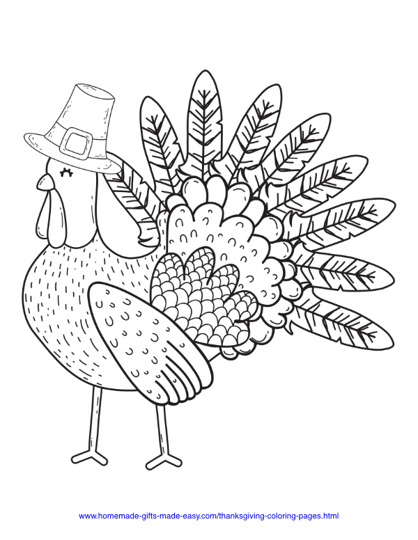 Turkey Colouring Page | Turkey coloring pages, Thanksgiving ... | 776x600