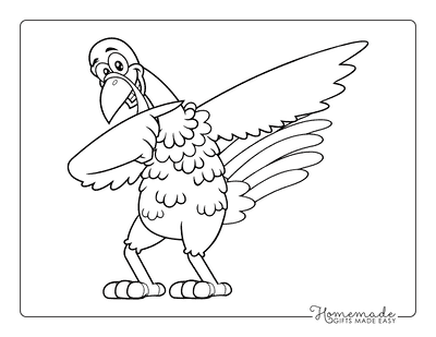 Turkey Coloring Pages Cartoon Dab