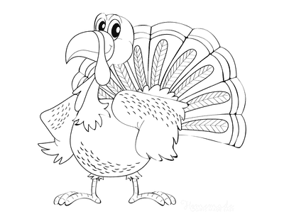 Turkey Coloring Pages Cartoon Turkey Wings on Hips