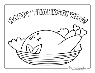 Turkey Coloring Pages Cooked Turkey