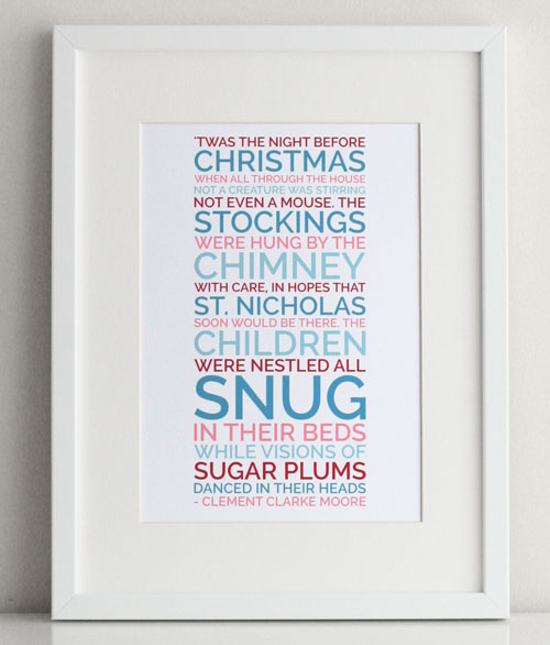 Personalized Christmas Poster