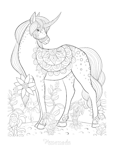 75 Magical Unicorn Coloring Pages For Kids & Adults Free Printables