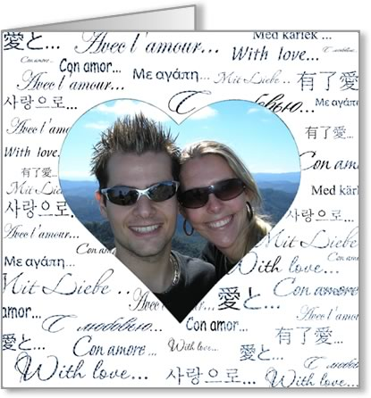 valentine photo card template love text