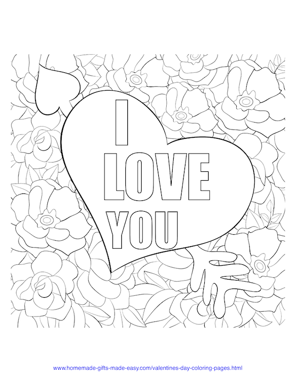 Heart With Roses Coloring Pages | Heart coloring pages, Rose ... | 776x600