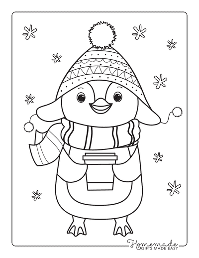 80 Best Winter Coloring Pages Free Printable Downloads