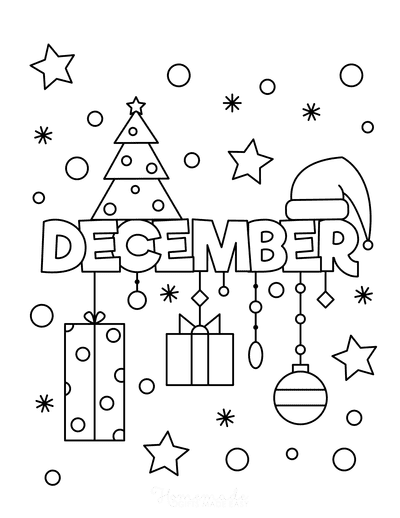 Winter Coloring Pages December