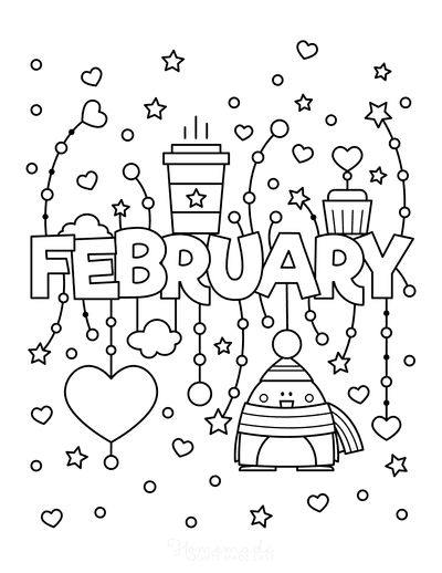 Winter Coloring Pages February