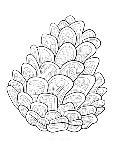 Winter Coloring Pages for Adults Pinecone