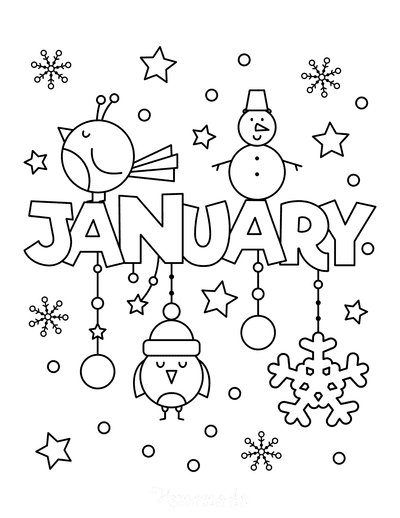 Winter Coloring Pages January