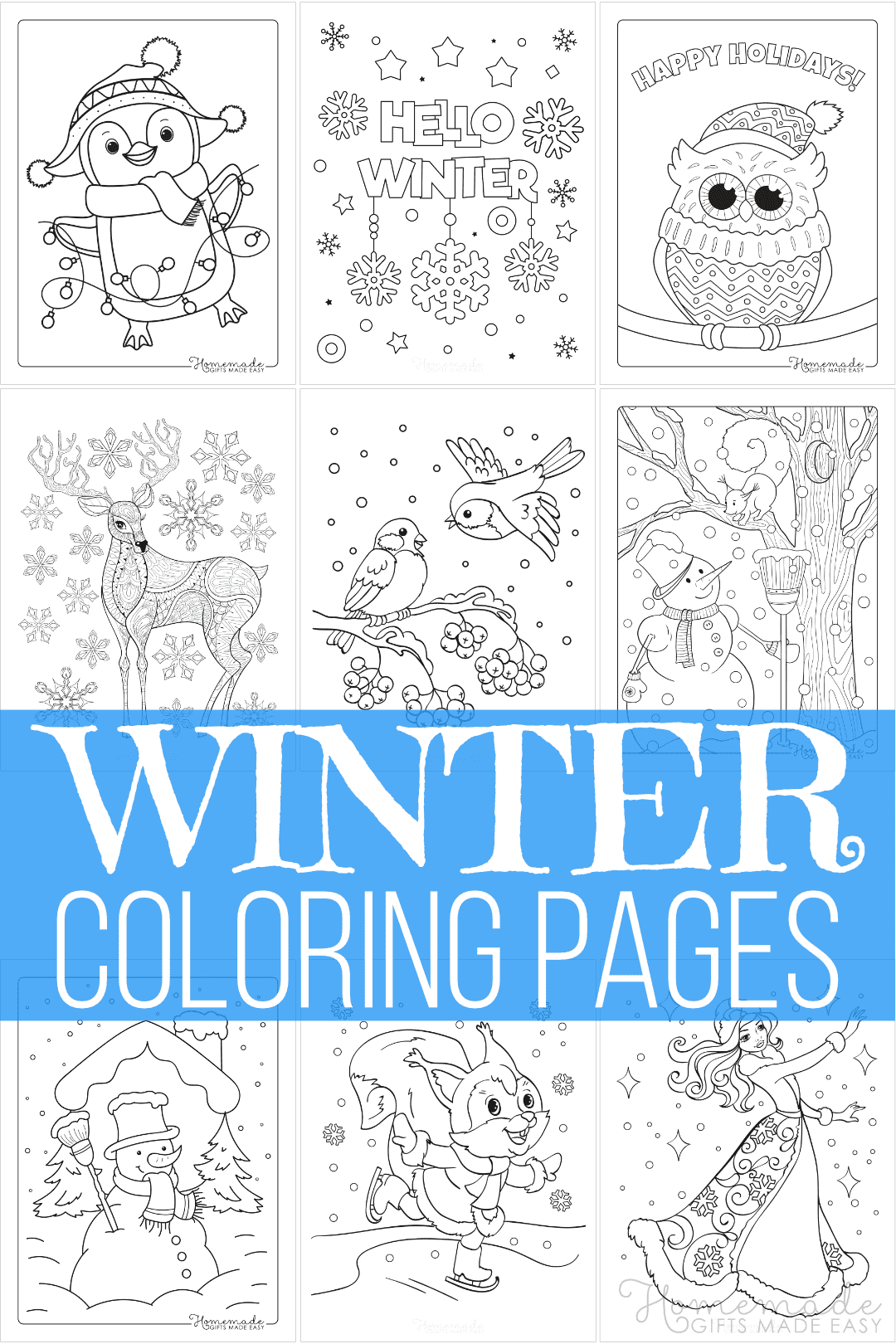 10 Best Winter Coloring Pages  Free Printable Downloads