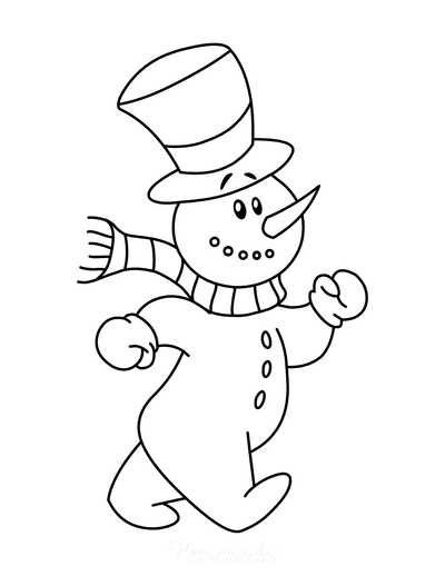 Winter Coloring Pages Preschool Snowman Cute