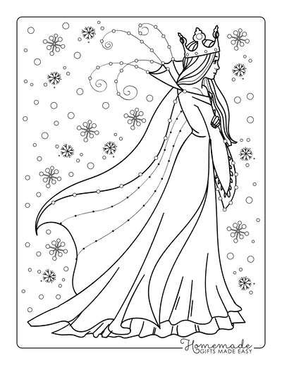 Winter Coloring Pages Snow Queen