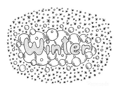 Winter Coloring Pages Snowballs