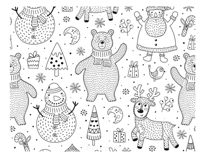 Winter Coloring Pages Wintertime Background