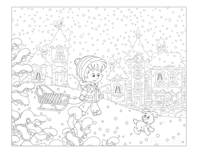 9 Best Winter Coloring Pages  Free Printable Downloads