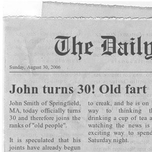 homemade 30th birthday gag gifts old fart newspaper