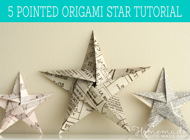 Christmas Decorations Made Out Of Paper Instructions : Folding pointed origami star christmas ornaments