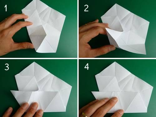Folding 5 Pointed Origami Star Christmas Ornaments on
